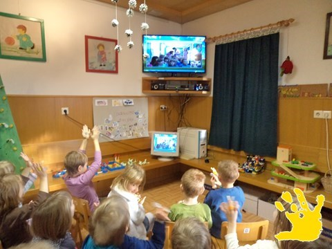 First video call - Poljane (Slovenia) & Borovo (Croatia)